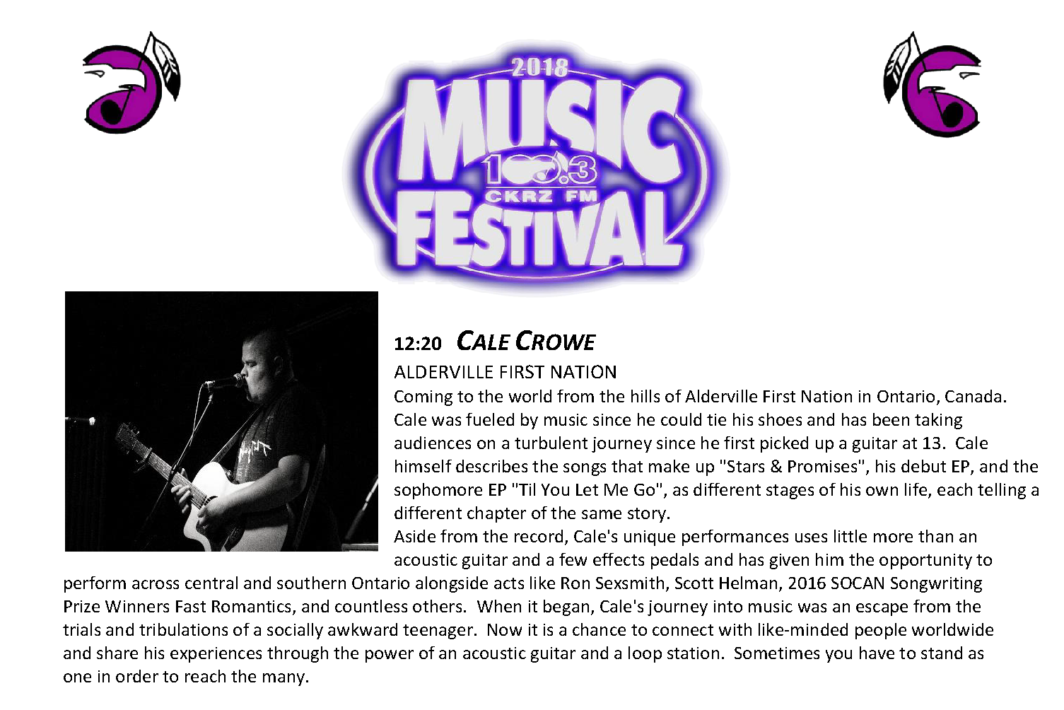 2. Music Fest Lineup - Cale