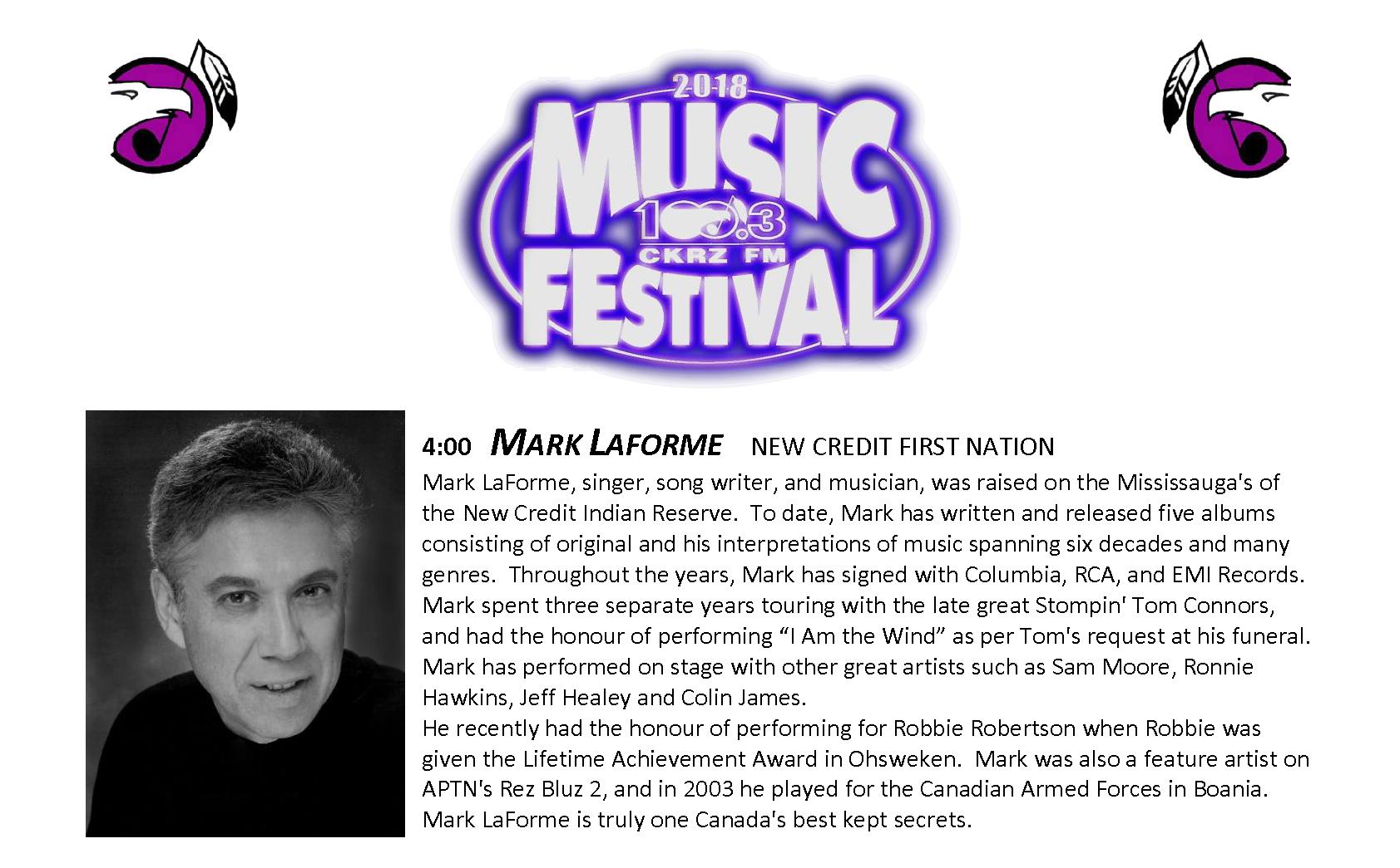 6. Music Fest Lineup - Mark