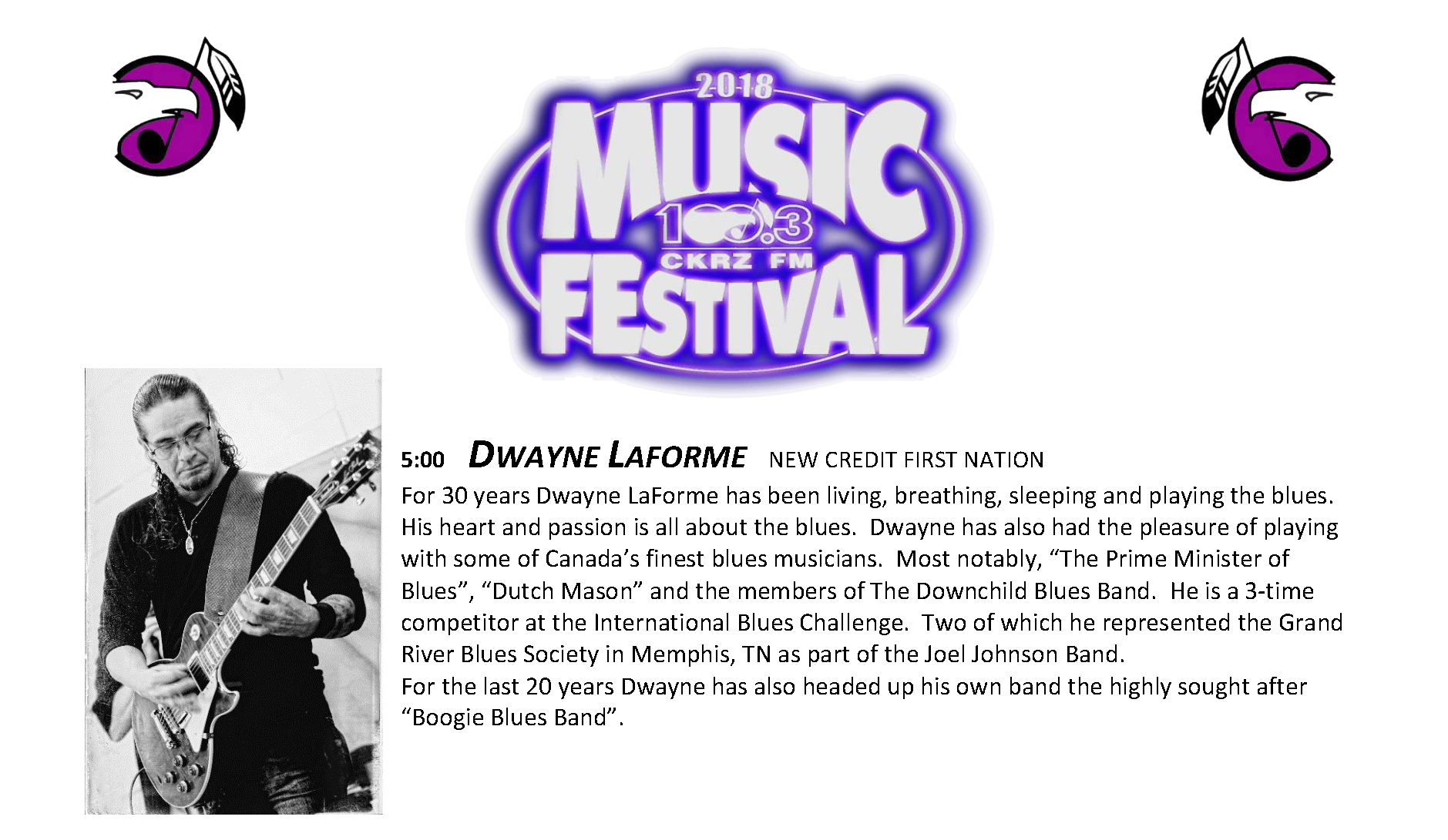 7. Music Fest Lineup - Dwayne